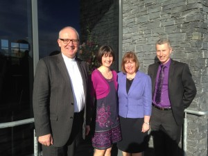With Rev Liam and Mrs Rutherford at the opening of new Church Building in Ballydown