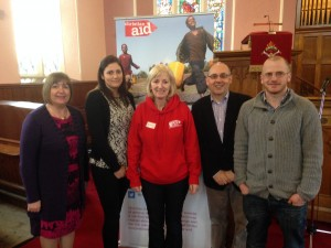 With Deborah and others from Christian Aid Ireland - this was in Letterkenny