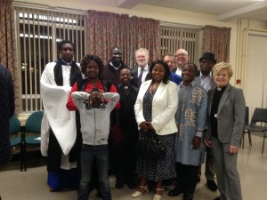 With the team who took part in the service in St Anne's to commemorate the 20th anniversary of the Rwandan Genocide
